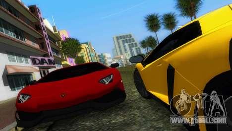 Lamborghini Aventador LP720-4 50th Anniversario for GTA Vice City back view