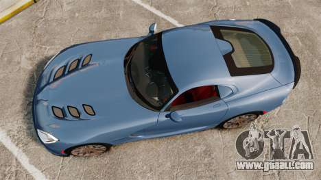 Dodge Viper SRT TA 2014 Rebuild for GTA 4 right view