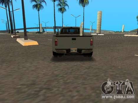 Ford F-350 for GTA San Andreas inner view