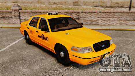 Ford Crown Victoria 1999 NYC Taxi for GTA 4 inner view