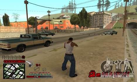 C-HUD Getto Jonka for GTA San Andreas third screenshot