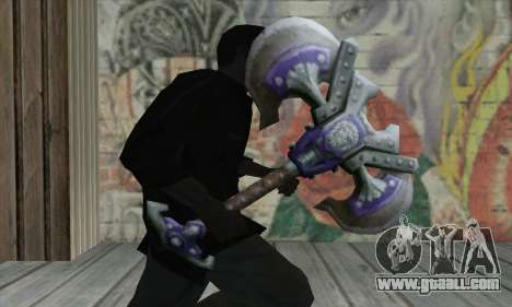 Axe from World of Warcraft for GTA San Andreas third screenshot