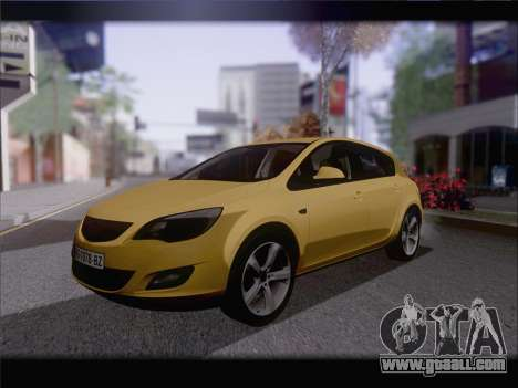 Opel Astra J 2011 for GTA San Andreas back left view