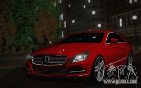Mercedes-Benz CLS 63 AMG 2012 Fixed for GTA San Andreas back left view
