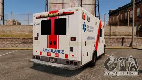 Brute B.C. Ambulance Service [ELS] for GTA 4 back left view