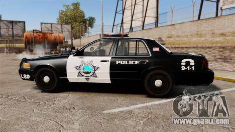 Ford Crown Victoria Liberty State Police for GTA 4 left view
