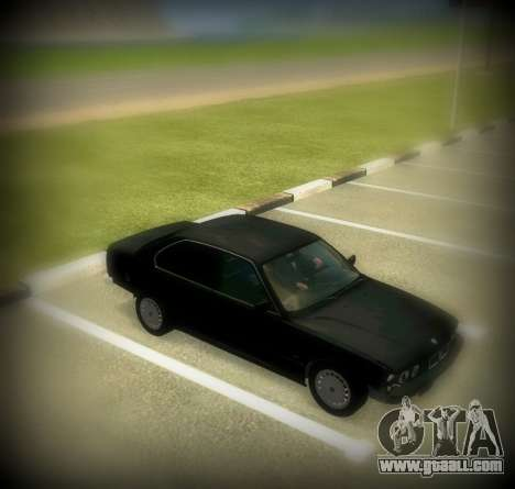 BMW 525 E34 for GTA San Andreas right view