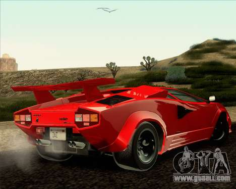 Lamborghini Countach LP500 Quattrovalvole 1988 for GTA San Andreas left view