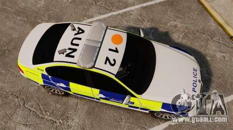 BMW 330i Metropolitan Police [ELS] for GTA 4 right view