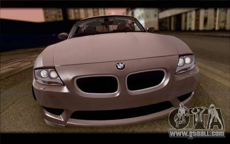BMW Z4 Stance for GTA San Andreas back view