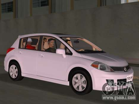 Nissan Tiida for GTA Vice City upper view