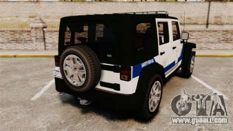 Jeep Wrangler Rubicon Police 2013 [ELS] for GTA 4 back left view