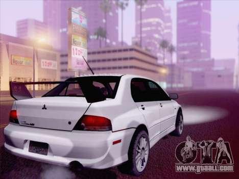 Mitsubishi Lancer Evo IX MR Edition for GTA San Andreas left view