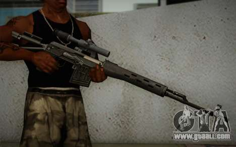 7.62 sniper rifle Dragunov SVD-s for GTA San Andreas third screenshot
