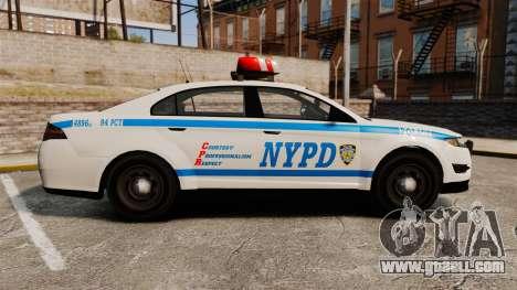 GTA V Police Vapid Interceptor NYPD for GTA 4 left view