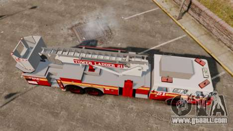 Seagrave Aerialscope Tower Ladder 2006 FDLC for GTA 4 right view