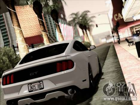Ford Mustang GT 2015 v2 for GTA San Andreas left view