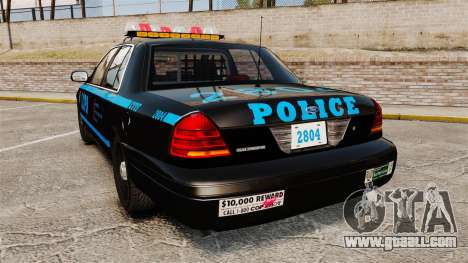 Ford Crown Victoria 1999 LCPD for GTA 4 back left view