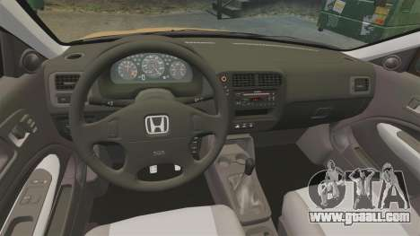 Honda Civic Si 1999 for GTA 4 inner view