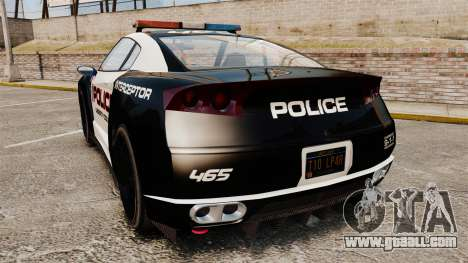 GTA V Police Elegy RH8 for GTA 4 back left view