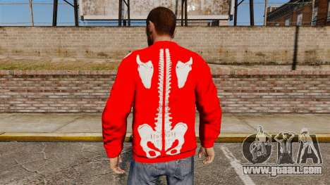 Red Sweater-skeleton- for GTA 4 second screenshot