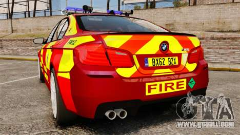BMW M5 West Midlands Fire Service [ELS] for GTA 4 back left view