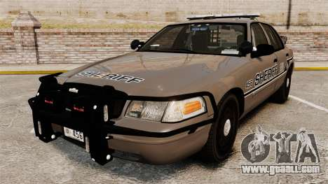 Ford Crown Victoria 2008 Sheriff Traffic [ELS] for GTA 4
