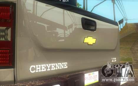 Chevrolet Cheyenne LT 2012 for GTA San Andreas back left view