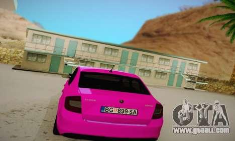 Skoda Rapid 2014 for GTA San Andreas right view