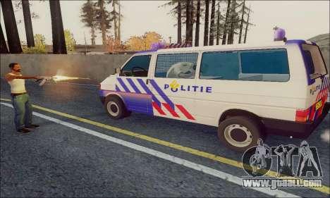 Volkswagen T4 Politie for GTA San Andreas back left view