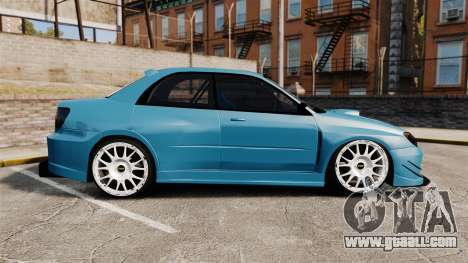Subaru Impreza HD Arif Turkyilmaz for GTA 4 left view
