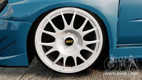 Subaru Impreza HD Arif Turkyilmaz for GTA 4 back view