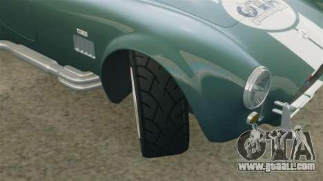 Shelby Cobra 427 SC 1965 for GTA 4 bottom view