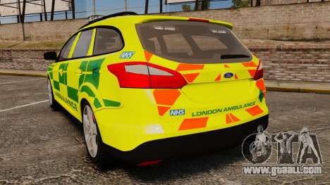 Ford Focus ST Estate 2012 [ELS] London Ambulance for GTA 4 back left view