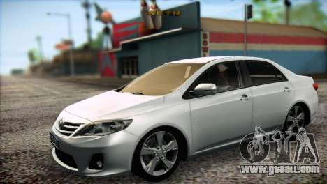 Toyota Corolla 2012 for GTA San Andreas left view