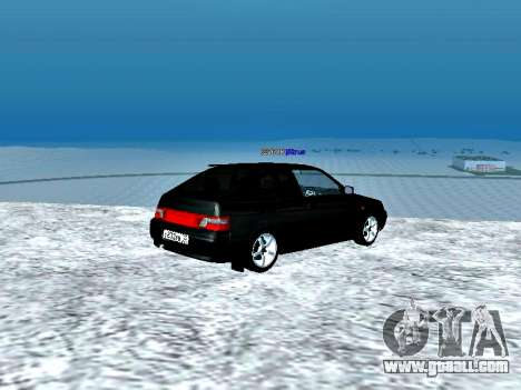LADA 2112 Coupe green Sandpiper for GTA San Andreas back left view
