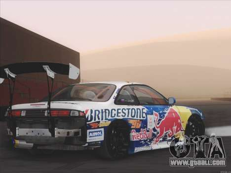 Nissan Slvia S14 RedBull for GTA San Andreas back left view