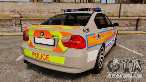 BMW 330 Metropolitan Police [ELS] for GTA 4 back left view