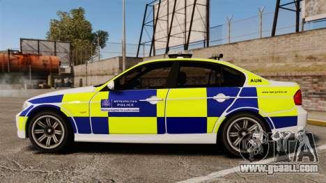 BMW 330i Metropolitan Police [ELS] for GTA 4 left view