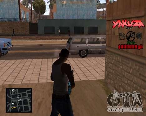 C-HUD Yakuza for GTA San Andreas second screenshot