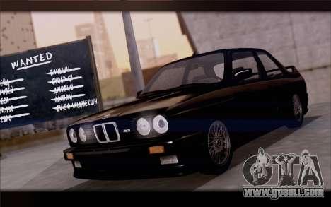 BMW M3 E30 Stock Version for GTA San Andreas