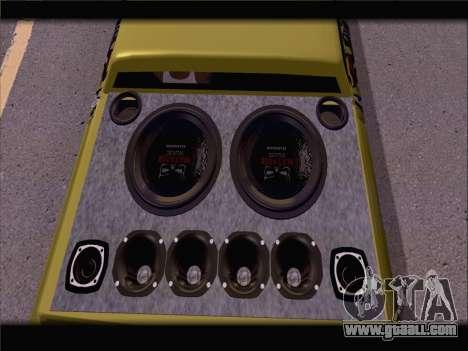 New Slamvan for GTA San Andreas back view