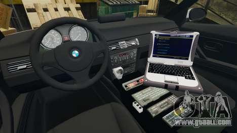 BMW 330 Metropolitan Police [ELS] for GTA 4 back view
