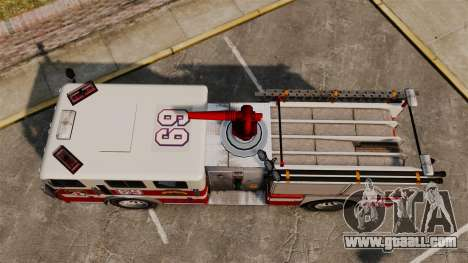 Fire truck for GTA 4 right view