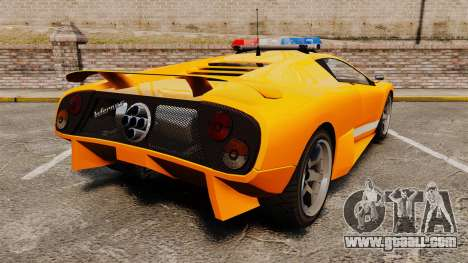 Infernus Police for GTA 4 back left view