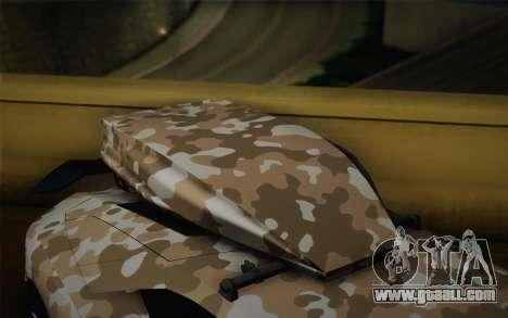 Lamborghini Aventador LP 700-4 Camouflage for GTA San Andreas right view