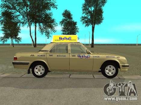 GAZ 31105 Volga Taxi for GTA San Andreas back left view