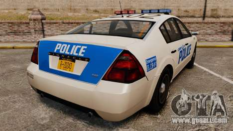 Pinnacle Police LCPD [ELS] for GTA 4 back left view