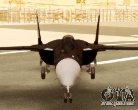 Su-47 Berkut v1.0 for GTA San Andreas back left view