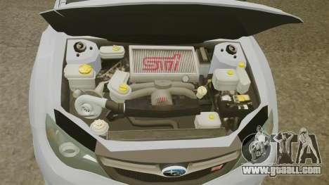 Subaru Impreza 2010 for GTA 4 inner view